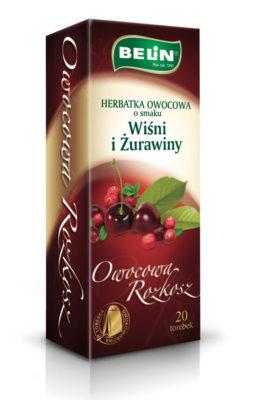 Herbatka owocowa o smaku wiśni i żurawiny